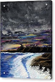 Acrylic Print featuring the painting Passing Storm by Gary Brandes