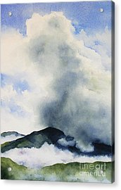 Passing Storm On Mt. Diablo Acrylic Print