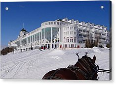 Passing The Grand Hotel Acrylic Print