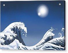 Passing Wave Acrylic Print