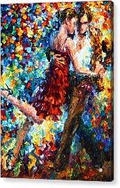 Passion Dancing Acrylic Print by Leonid Afremov