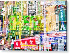 Passion Nyc Chinatown Madness Acrylic Print by Sabine Jacobs