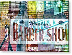 Passion Nyc Harlem Barber Shop Acrylic Print by Sabine Jacobs