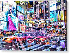 Passion Nyc Times Square No 3 Acrylic Print by Sabine Jacobs