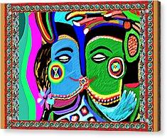 Passionate Kiss Kamasutra Khajuraho India Cave Style Art Navinjoshi Rights Managed Images Graphic De Acrylic Print