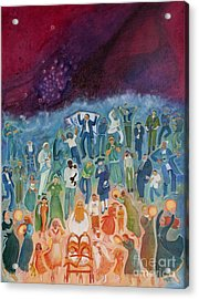 Passover Not Only Our Fathers Acrylic Print by Chana Helen Rosenberg