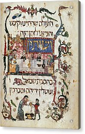 Passover Scene Acrylic Print by British Library