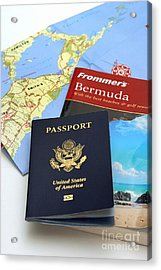 Passport Frommers Travel Guide And Map Acrylic Print by Amy Cicconi