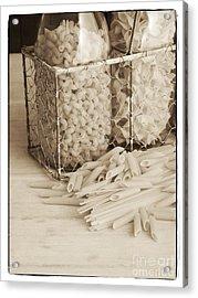 Pasta Sepia Toned Acrylic Print by Edward Fielding