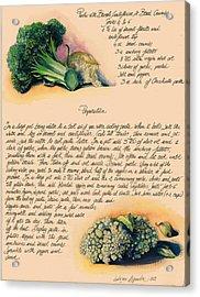 Pasta With Broccoli And Cauliflower Acrylic Print