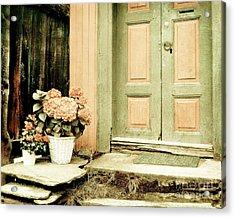 Pastel Colored Doorstep Acrylic Print