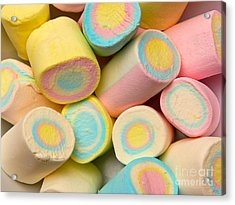Pastel Colored Marshmallows Acrylic Print by Amy Cicconi