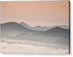 Pastel Dawn In The Smokies Acrylic Print by Andrew Soundarajan