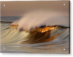 Pastel Gold Wave  Mg9082 Acrylic Print