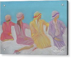 Pastel Hats By Jrr Acrylic Print by First Star Art
