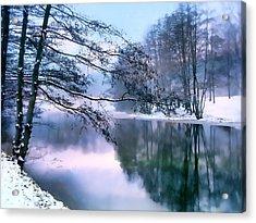 Pastel Pond Acrylic Print by Jessica Jenney