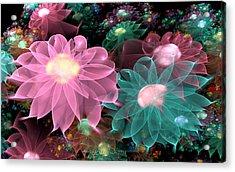 Pastel Posies Acrylic Print