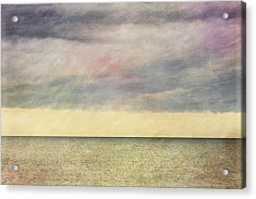 Pastel Sea - Textured Acrylic Print by Karen Stephenson