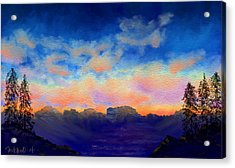 Pastel Sky Acrylic Print by Kerry Mitchell