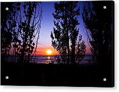 Pastel Sun Acrylic Print by Jason Naudi Photography