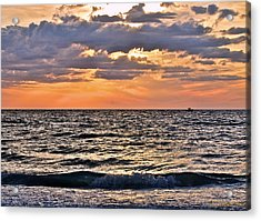 Pastel Sunset 1 Acrylic Print by Lisa Merman Bender