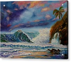 Acrylic Print featuring the painting Pastel Sunset by Jenny Lee