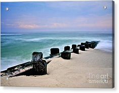 Pastel Waters Acrylic Print by Mark Miller