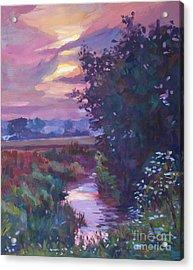 Pastoral Morning Acrylic Print by David Lloyd Glover