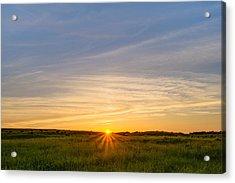 Pasture At Sunset Acrylic Print
