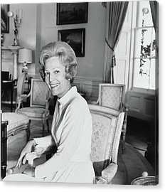 Pat Nixon In The White House Acrylic Print