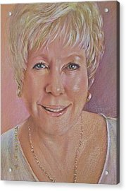 Acrylic Print featuring the painting Pat Self Portrait by Patricia Schneider Mitchell