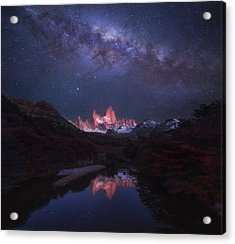 Patagonia Autumn Night Acrylic Print