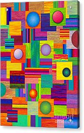 Patches Acrylic Print by David K Small