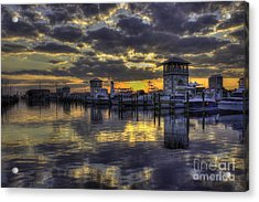 Acrylic Print featuring the photograph Patches In The Harbor by Maddalena McDonald