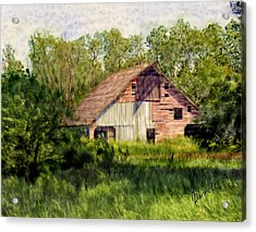 Patchwork Barn Acrylic Print
