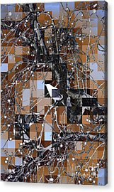 Patchwork Crows Acrylic Print