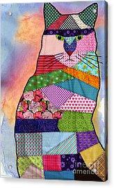 Patchwork Kitty Acrylic Print by Juli Scalzi