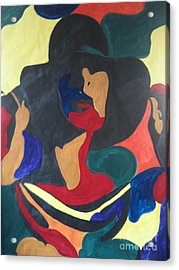 Acrylic Print featuring the painting Patchwork Velvet by Denise Tomasura