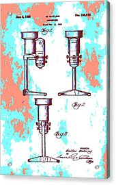 Patent Art Blender Acrylic Print by Dan Sproul