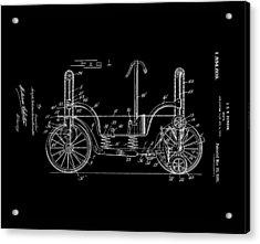 Patent Art Guindon 1920 Roller Skates Bw Acrylic Print