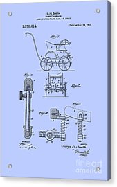 Patent Baby Carriage 1921 Smith Blue Acrylic Print