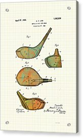 Patented Golf Club Heads 1926 Acrylic Print by Marlene Watson