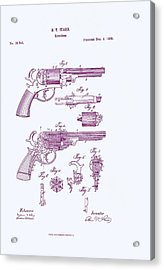 Patented Revolver In Purple Acrylic Print by Georgia Fowler