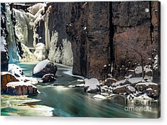 Paterson Falls Frozen Fantasy Acrylic Print