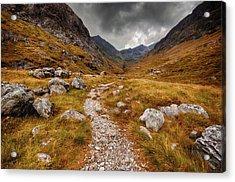 Path In Mountains Acrylic Print by Garry Solomon / Eyeem