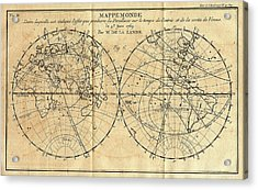 Path Of The 1761 Transit Of Venus Acrylic Print by American Philosophical Society