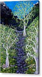 Path Through The White Oaks Acrylic Print