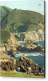 Path To Bixby Bridge Acrylic Print by DJ Laughlin