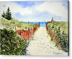 Path To East Beach-watch Hill Ri Acrylic Print by Joan Hartenstein