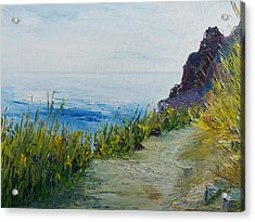 Path To Lovers Cove Acrylic Print